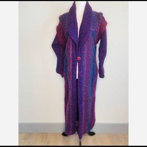 Vintage Nancy Lyon Wool Purple Winter Pea coat